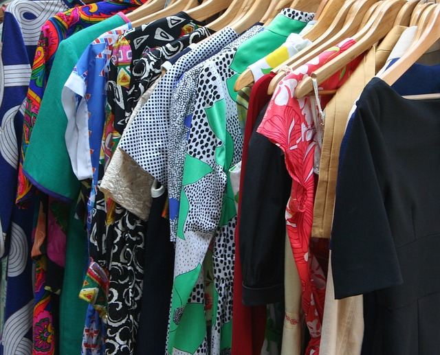 Climate Controlled units for clothing storage photo of dresses on hangers